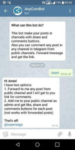 How to enable commenting on our Telegram channel?